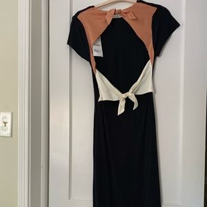 Zara midi open back dress